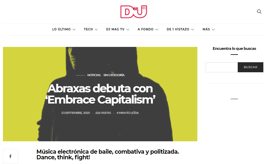 Embrace Capitalism on the media: Abraxas on DjMag